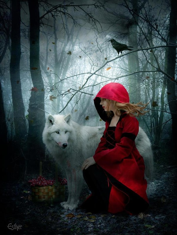 Grimm Fairy Tales Little Red Riding Hood images de loup